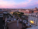 panoramic terrace on the roofs of Rome